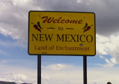 Welcome to New Mexico Sign, photo by Johnna M. Gale