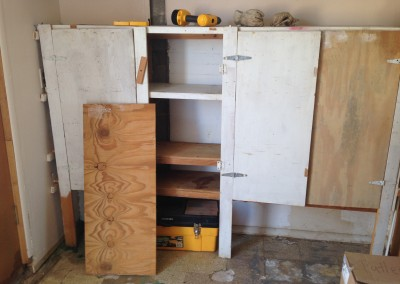 studio cabinets before by Johnna M. Gale