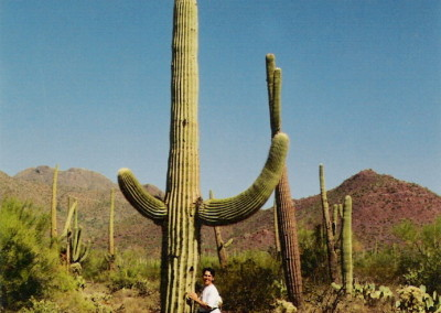 Carmalita Tropican hugs a cactus Photo by Johnna M. Gale