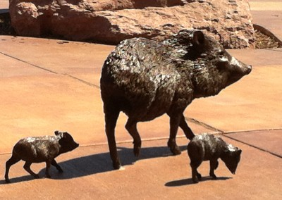 javalina statuary, Sedona, Az Photo by Johnna M. Gale 2015