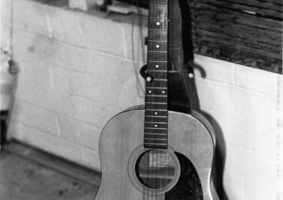 Guitar, black and white photograph by Johnna M. Gale