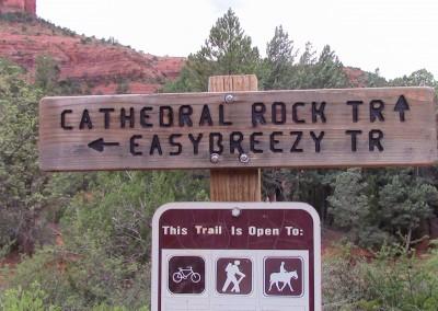 Trailhead sign, Sedona AZ, photo by Johnna M. Gale