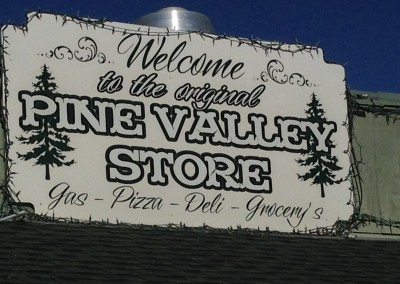 pine valley store sign in San Diego Mountains, photo by Johnna M. Gale