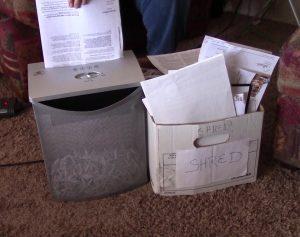 shredding old documents