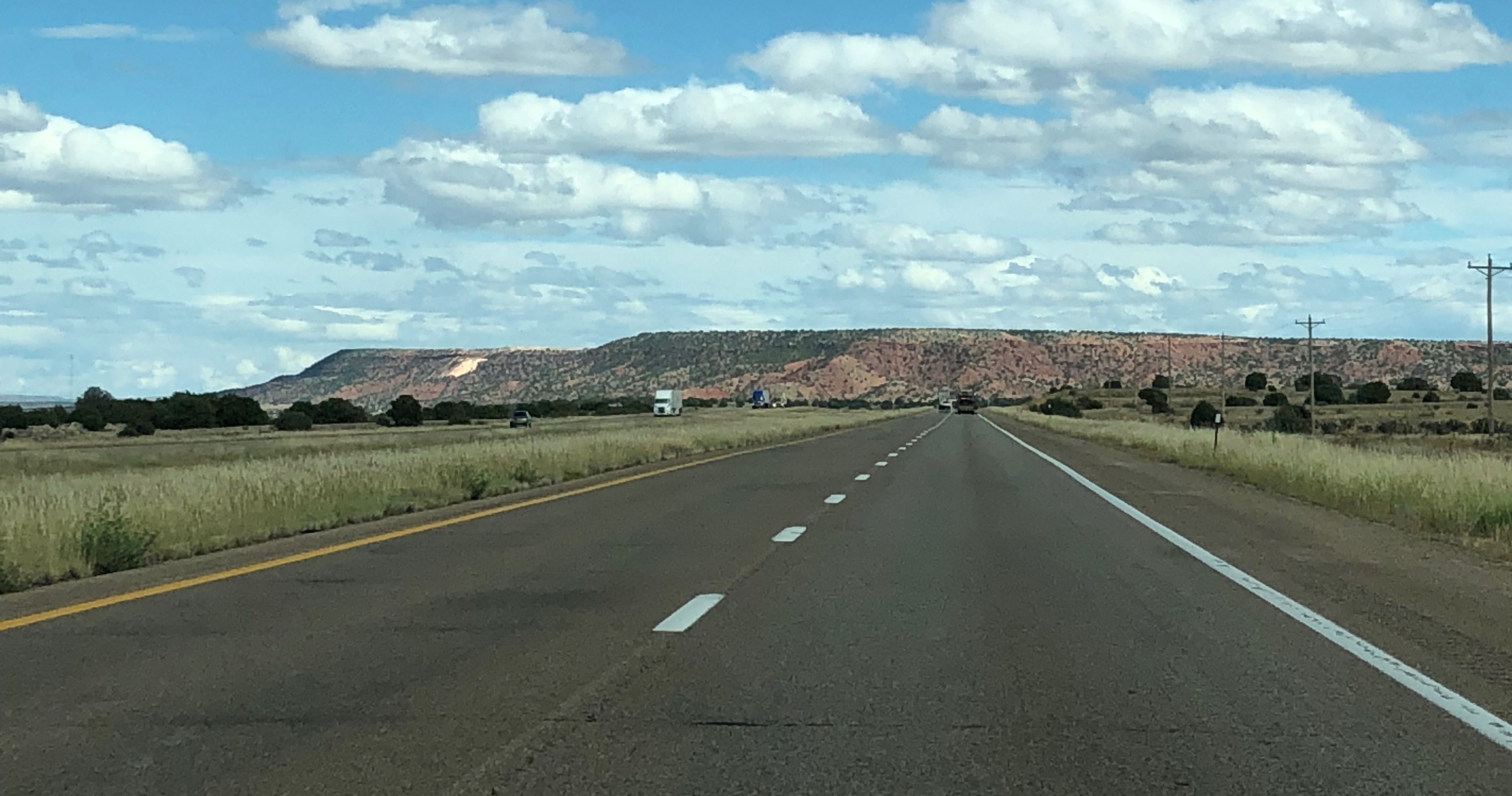 New Mexico Highway - photo by Desert Xe;