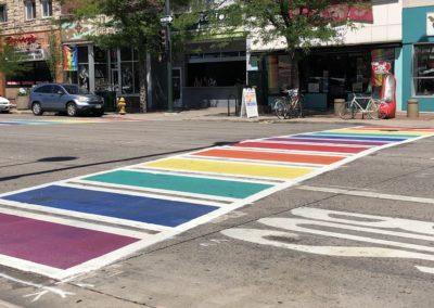 Rainbow Crosswalk, Denver