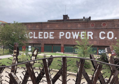Spiked Fence and power co.