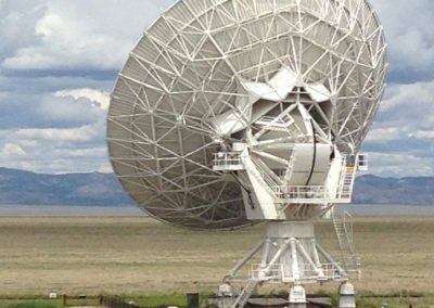 Very Large Array satellite rear view