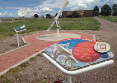 Very Large Array telescope full view