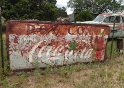 Trusted coca cola sign, Pie Town, NM