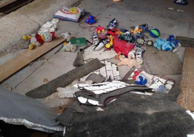 Floor of ruined building, Pie Town, NM