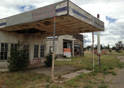 Ruined buildings, Pie Town, NM