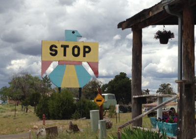 Thunderbird sign, Pie Town, NM