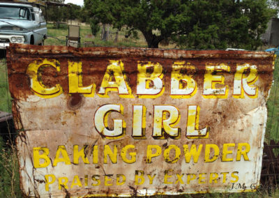 Rusted Sign, Pie Town, NM