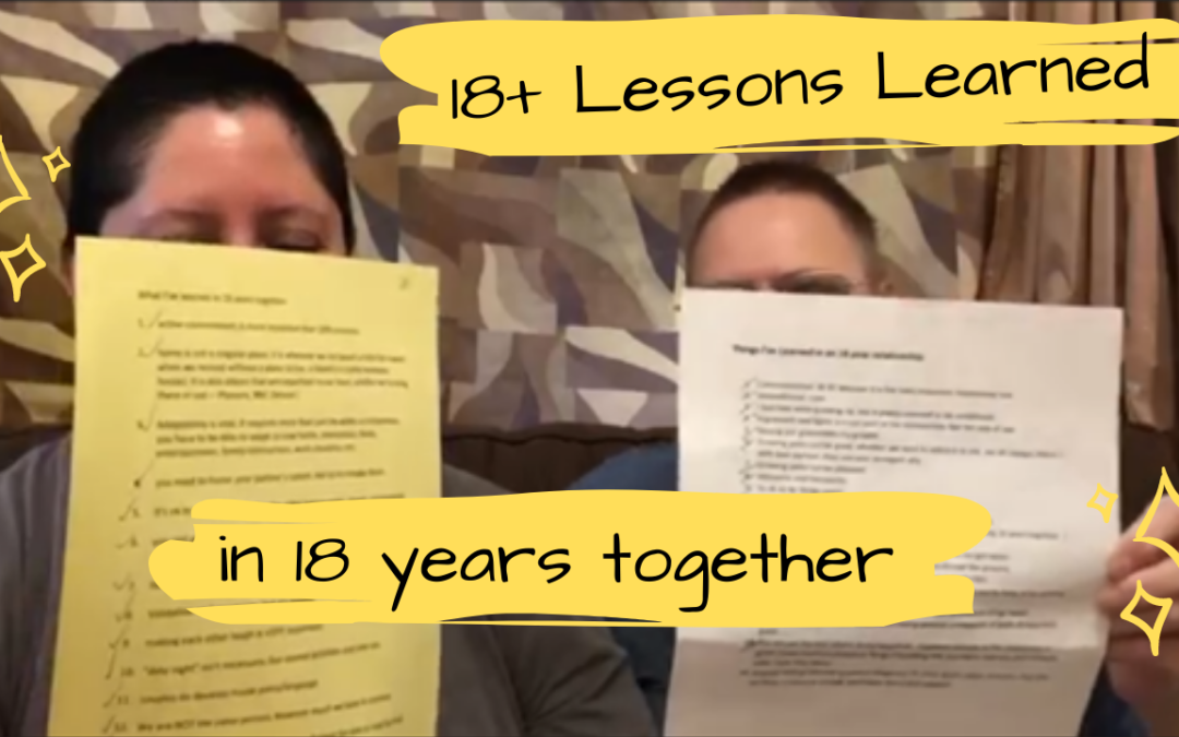 18 Lessons learned in 18 years