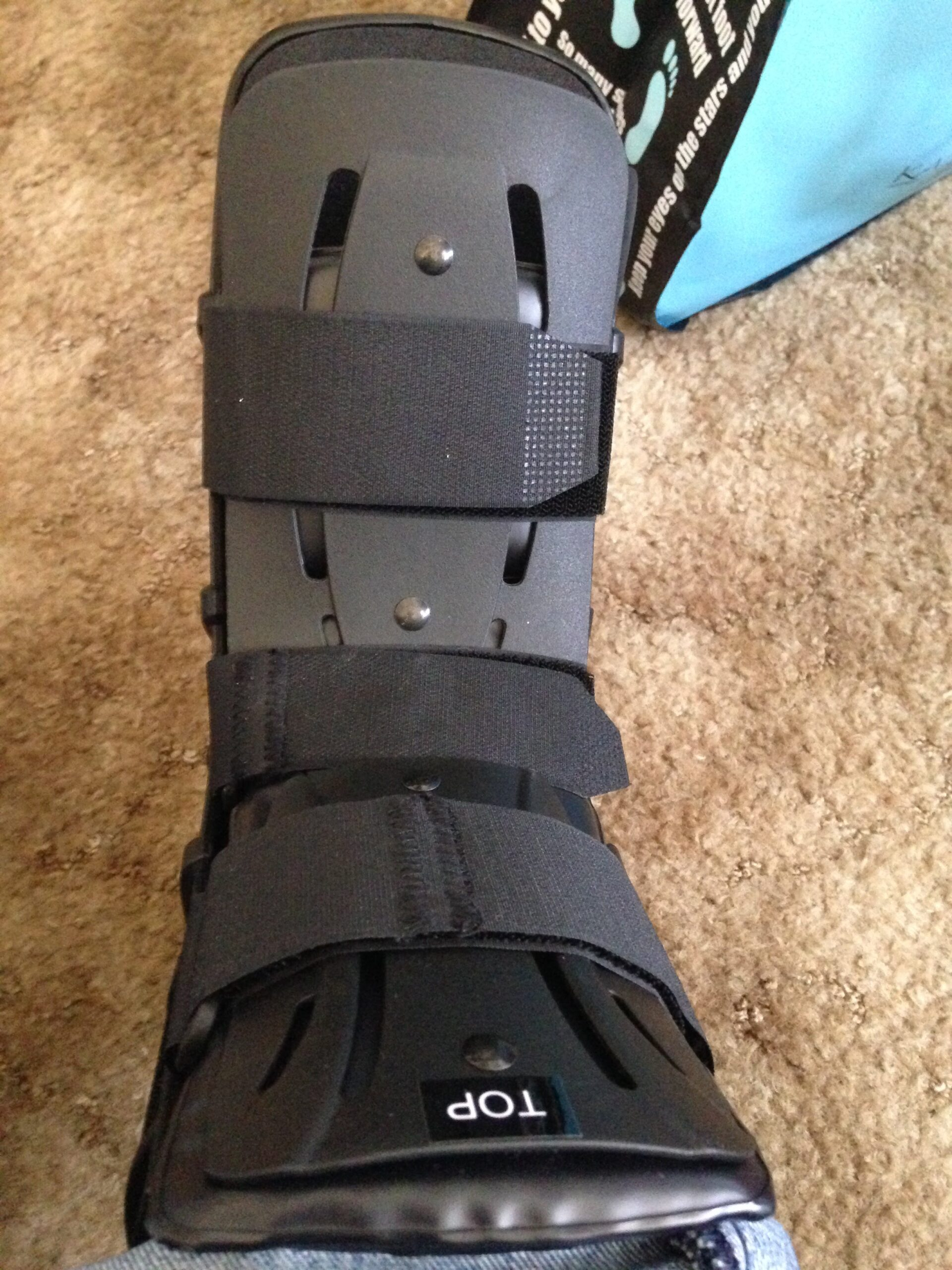 the real boot, The boot I wore during our trip to Dallas Texas.